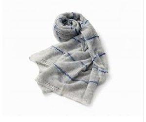 Allpa Blue Striped Grey Scarf