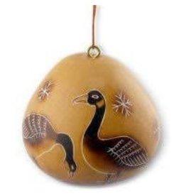 Manos Amigas Gourd Geese Ornament