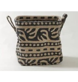 Saidpur Enterprises Basket Natural/Black Jute Medium