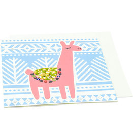 Saidpur Enterprises Festive Llama Greeting Card