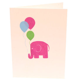 Saidpur Enterprises Pink Elephant Greeting Card