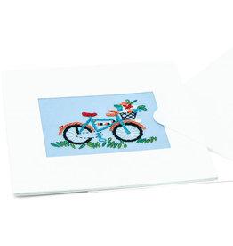 Swajan Flowers in the Basket Bicycle Greeting Card