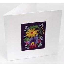 Swajan Greeting Card with Flowers