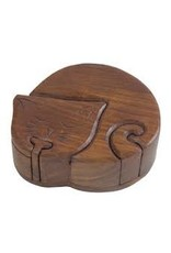 Sasha Association for Crafts Producers Napping Kitty Puzzle Box