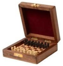 Asha Handicrafts Shesham Travel Chess Set