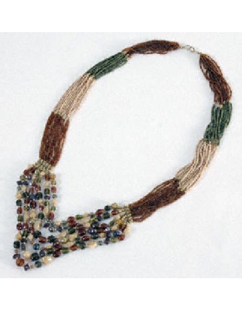 Asha Handicrafts Necklace Multi Strand Glass Beads