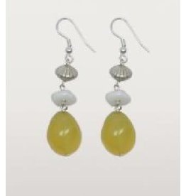 Asha Handicrafts Sunshine Agate Drop Earrings