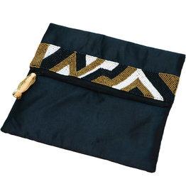 Asha Handicrafts Asymmetrical Zari Envelope Clutch