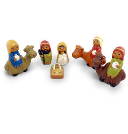 Manos Amigas Medium Ceramic Nativity with Camels
