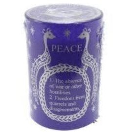 Silence Peace Soy Candle (Purple)