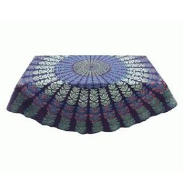 Asha Handicrafts Round Grape Mandala Tablecloth