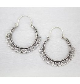 Asha Handicrafts Fanciful Lace Hoop Earrings