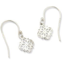 Asha Handicrafts Sterling Silver Filigree Drop Earrings