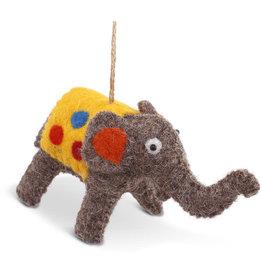 Asha Handicrafts Felt Elephant Ornament