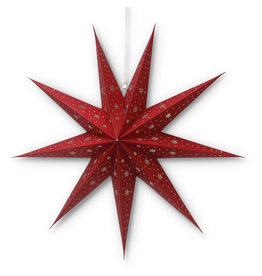 Asha Handicrafts Red Glitter Star