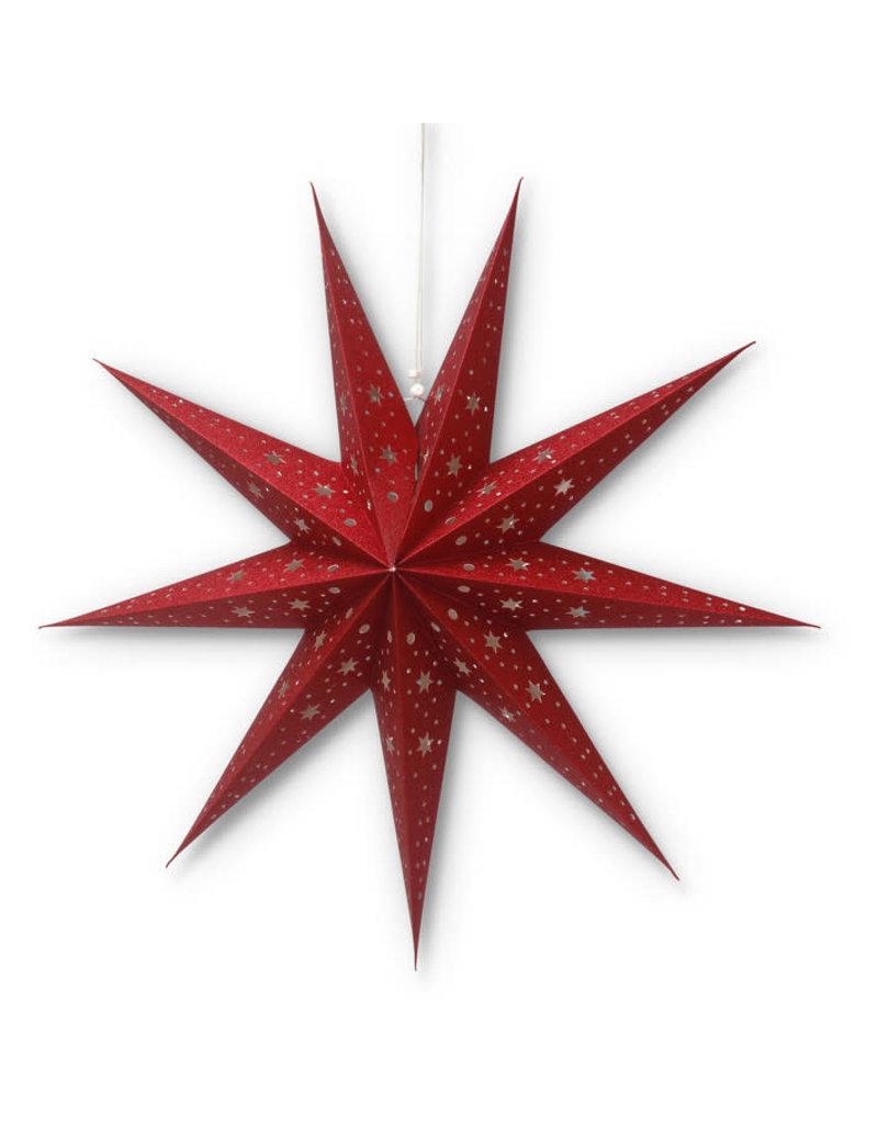 Asha Handicrafts Red Glitter Star