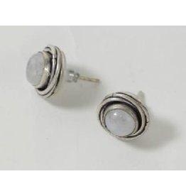 Asha Handicrafts Silver Moonstone Earrings