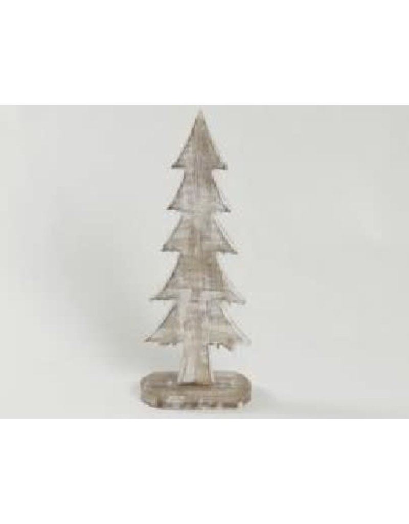 Asha Handicrafts Standing Whitewashed Christmas Tree