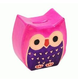Sasha Association for Crafts Producers Chubby Owl Money Bank (Pink)