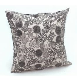 Sasha Association for Crafts Producers Black Flowered Cushion