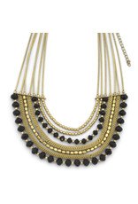 Sasha Association for Crafts Producers Gold Beaded Necklace
