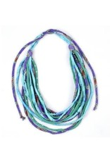 Sasha Association for Crafts Producers Upcycled Silk Necklace