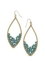 Sasha Association for Crafts Producers Stacked Bead Teardrop Earrings