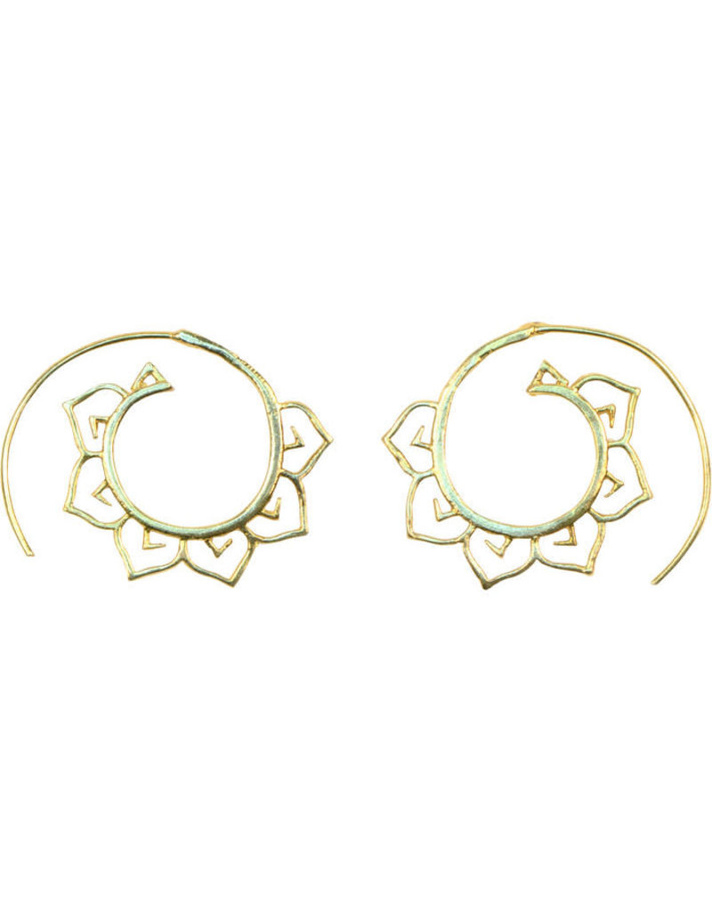 Sasha Association for Crafts Producers Brass Petal Earrings