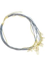 Sasha Association for Crafts Producers White Glass Multi-strand Necklace