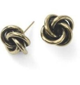 Sasha Association for Crafts Producers Twisted Knot Stud Earrings