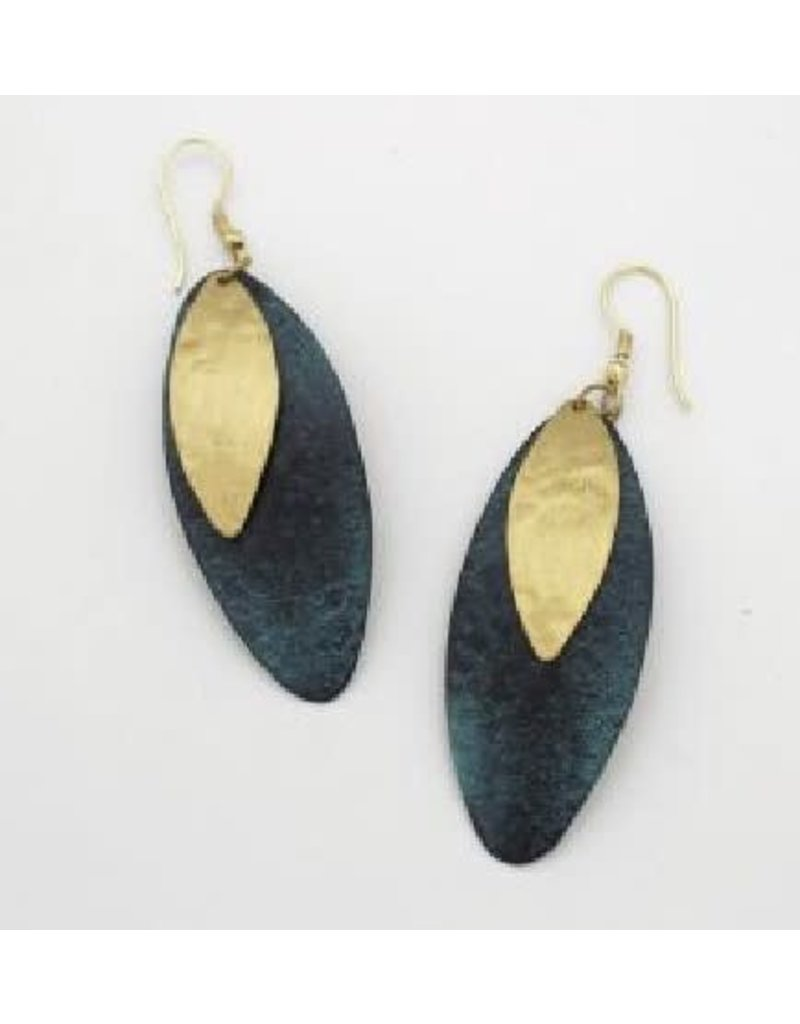 Sasha Association for Crafts Producers Teal Oval Earrings