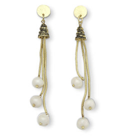 Sasha Association for Crafts Producers Drop Pearl Earrings