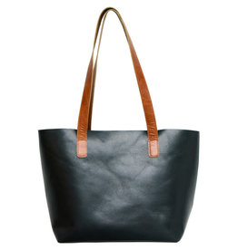 Craft Resource Center Raw Edge Black Leather Hand bag