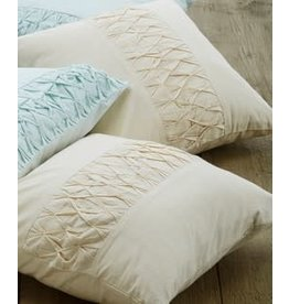Craft Resource Center Ruched Cushion Cover (Cream)
