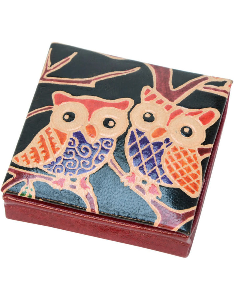 Craft Resource Center Leather Owl Coin Purse