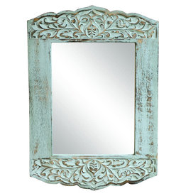 Noah's Ark Distressed Mango Accent Mirror