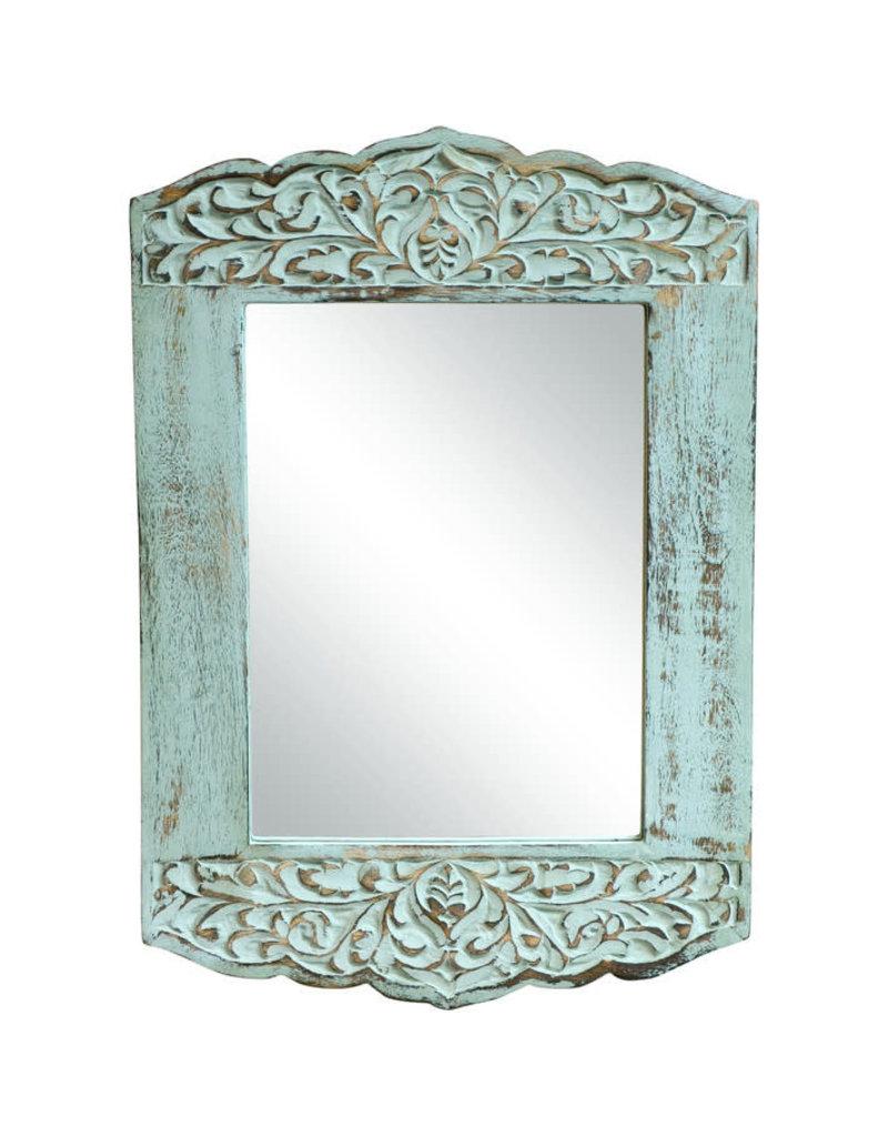Noah's Ark Distressed Mango Accent Mirror