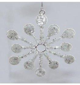 Noah's Ark Silver Snowflake Ornament