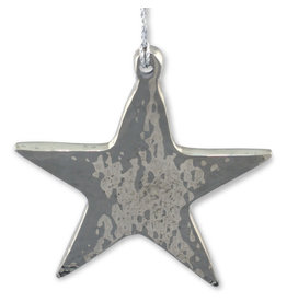 Noah's Ark Silver Metal Star Ornament