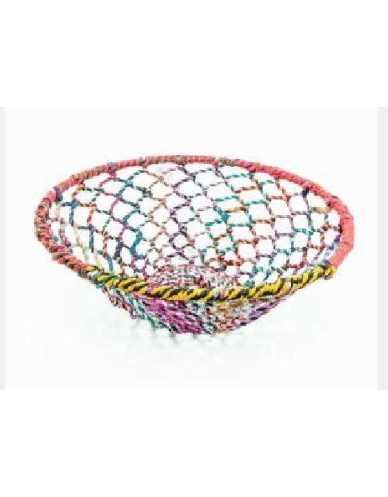 Noah's Ark Basket Multicolour Woven Thread/Wire Large