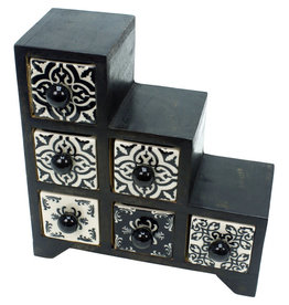 Noah's Ark Black & White Mango Chest