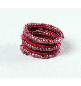 Tara Projects Red Beaded Ring