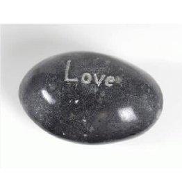 Tara Projects Paperweight LOVE Asstd Shapes Palewa Stone