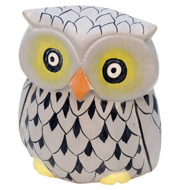 Mitra Bali Wise Guy Grey Owl Sculpture (Large)