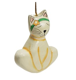 Mitra Bali Wooden Yoga Cat Ornament