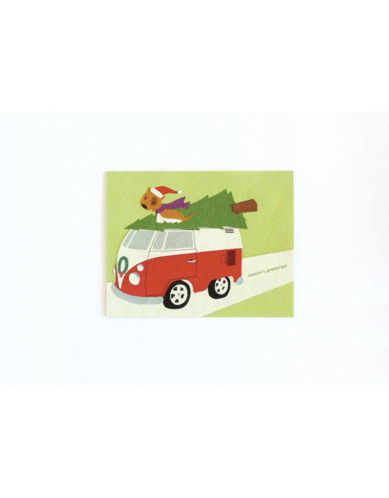 Good Paper Retro Van Holiday Card