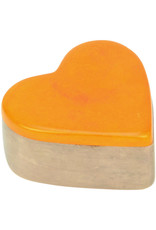 Undugu Society of Kenya Kisii Treasure Heart Box - Orange