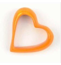 Undugu Society of Kenya Kisii Heart Napkin Ring - Orange