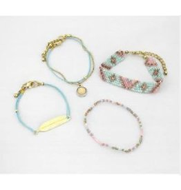 Asha Handicrafts Spring Fling Beaded Bracelets (Set of 4)