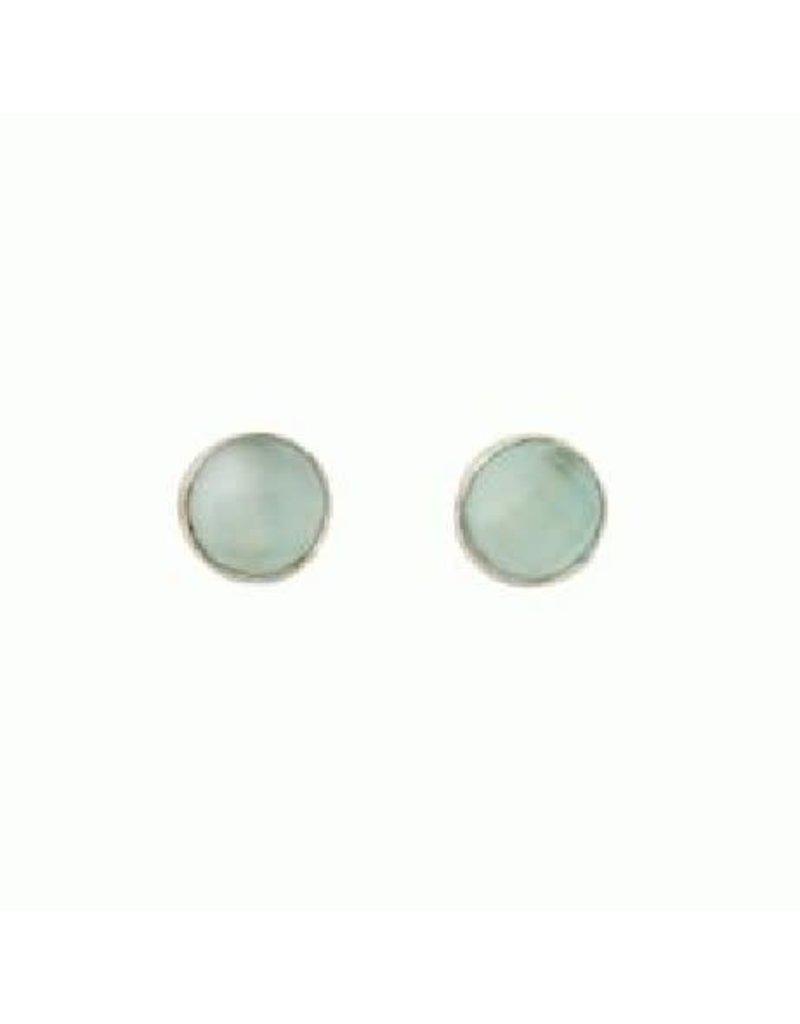 Asha Handicrafts Iced Aqua Stud Earrings